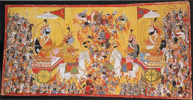 800px-Arjuna_and_His_Charioteer_Krishna_Confront_Karna