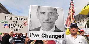 Thousands of people join a march and demonstration to protest health care reform proposed by US President Barack Obama
